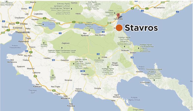 Mapa Grcke Stavros