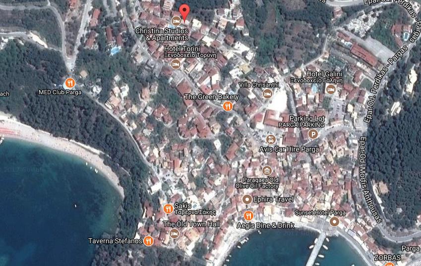 vila maria parga mapa
